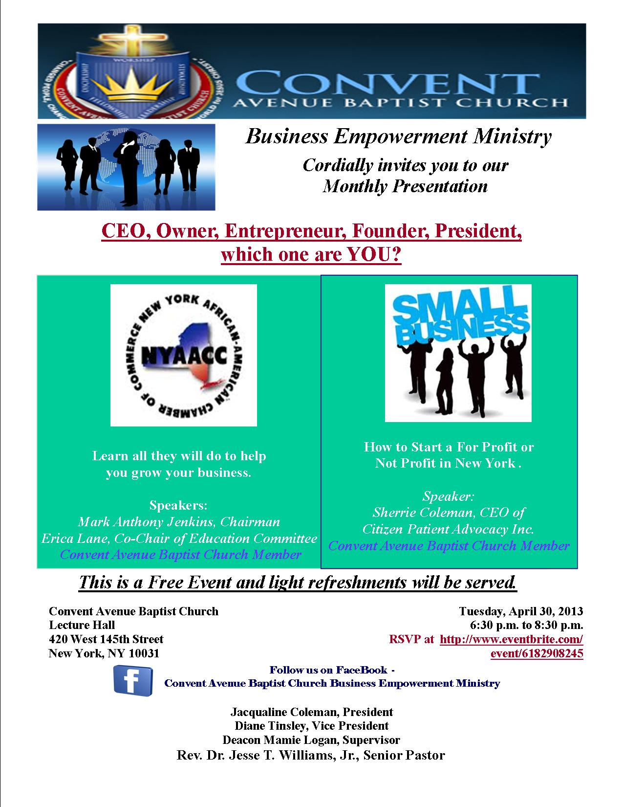BEM Flyer - April 2013