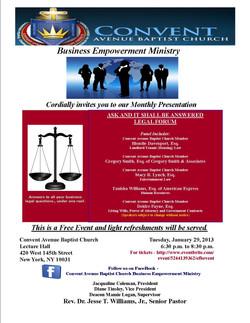 BEM Flyer - January  2013