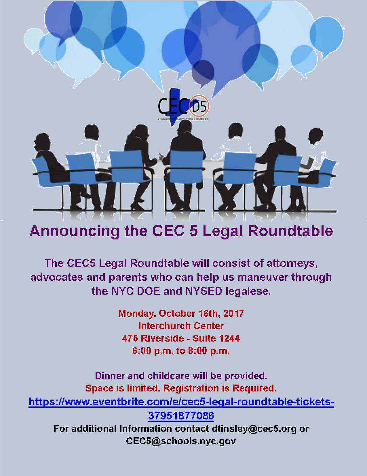 CEC5 Legal Roundtable 2017