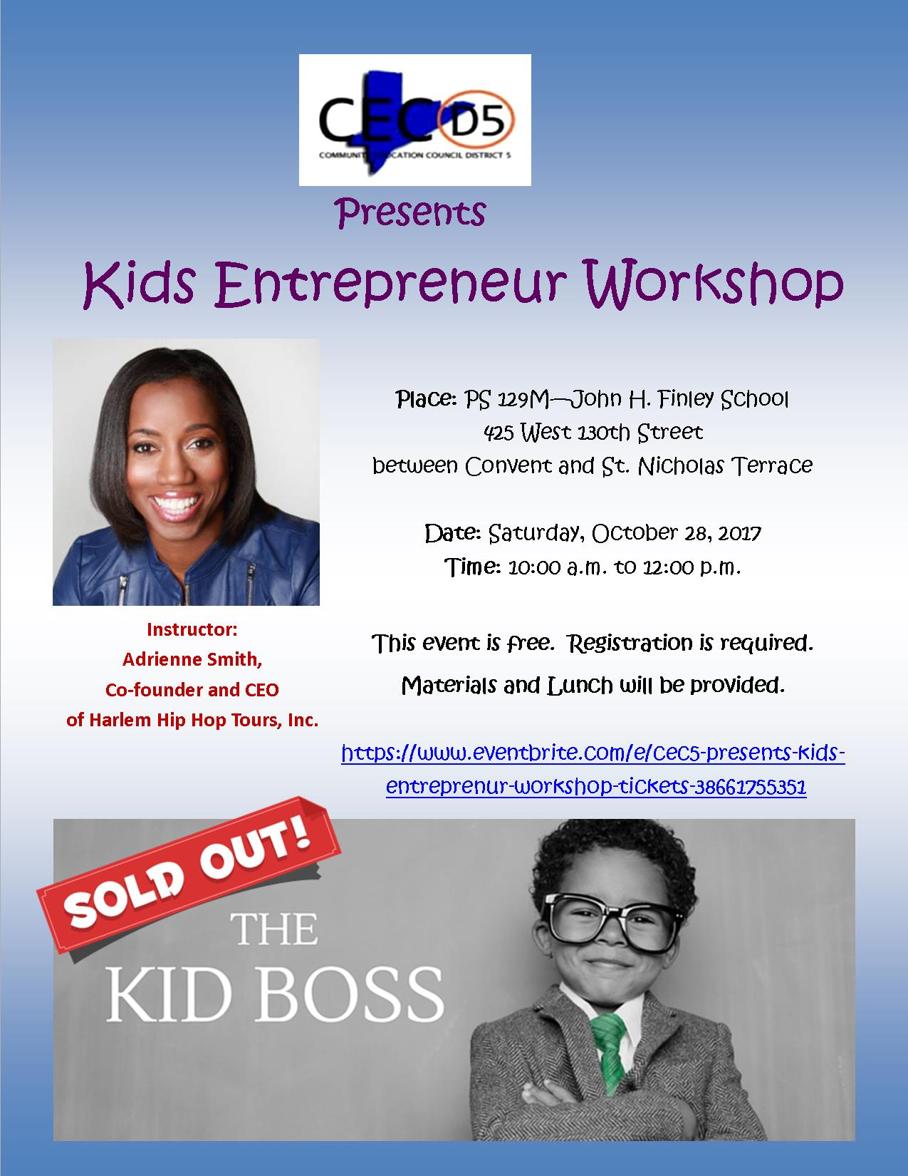 Kids Entreprenur Workshop