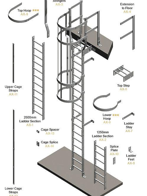 KITE Access Ladder Kits drawing