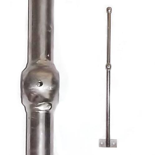 two ball on a self colour tubular level standard