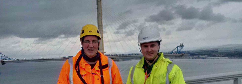technical support provided by kite for Edinburgh forth bridge project