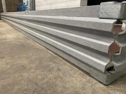grey GRP kick plate - light weight