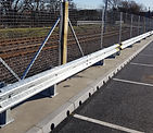 crash barrier in car park