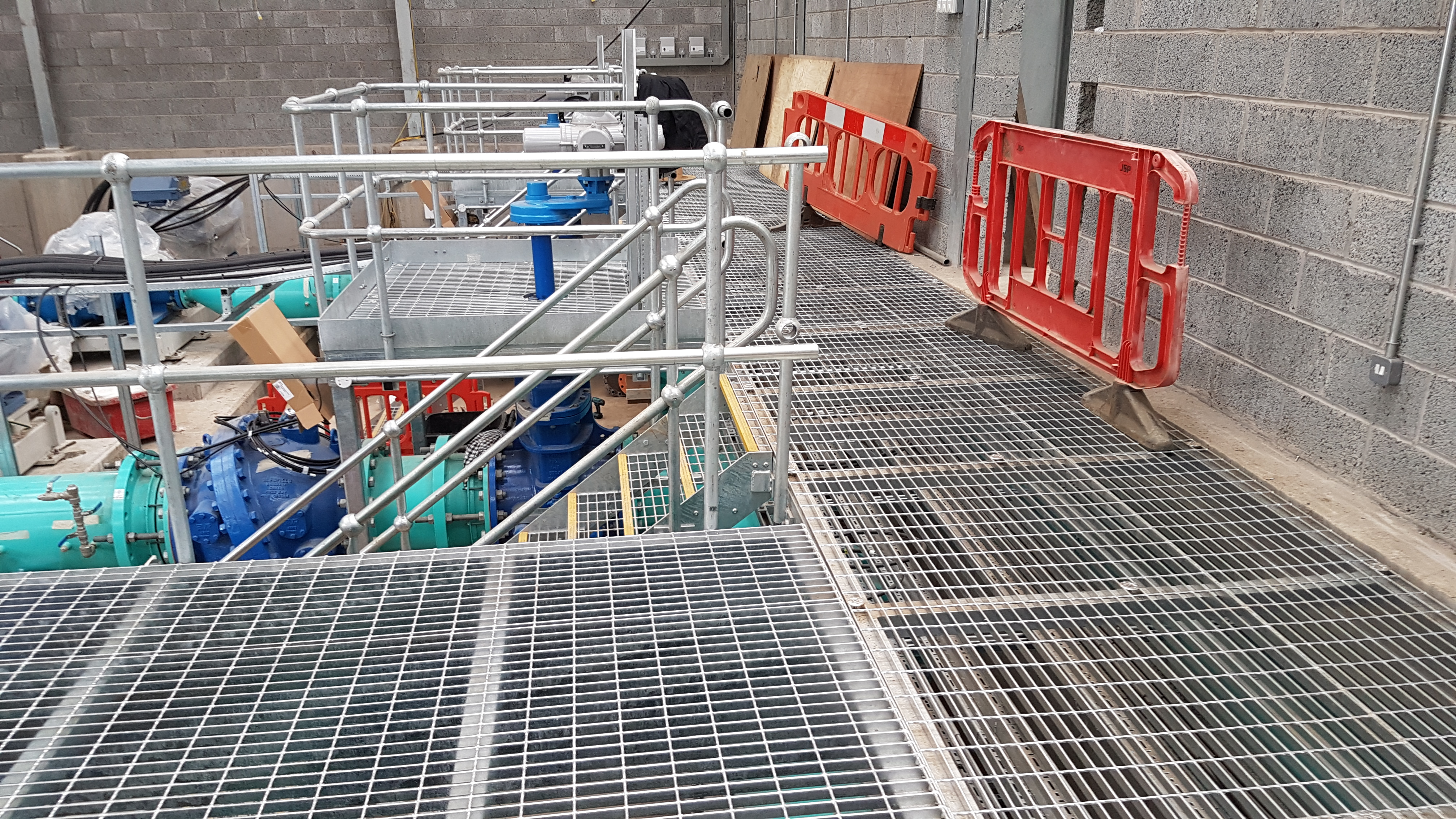 Walkway and Handrail in a Construction Site