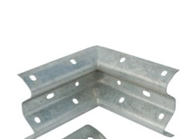 galvanised internal corner covering barrier beam ends