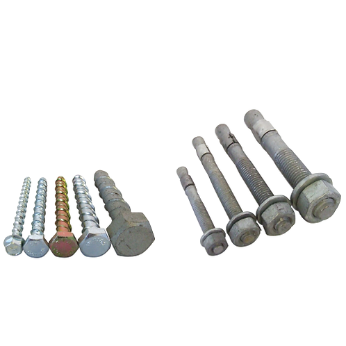 8 different Anchor Bolts or Through Bolts