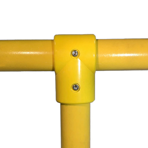 Yellow light weight GRP 3 Way Tee Connector
