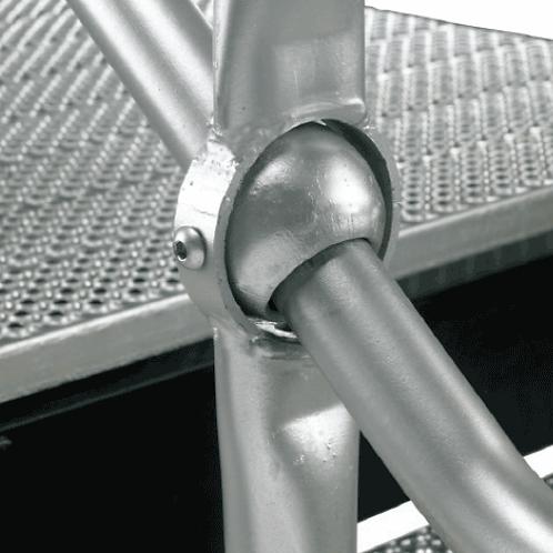 galvanised adjustable rake handrail system