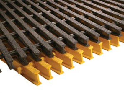 Grey and yellow Moulded GRP Grating Panels