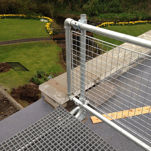 Mesh Panels on top roof with garden background