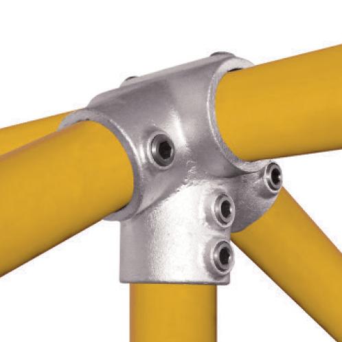 Ridge Fitting connecting yellow tubes