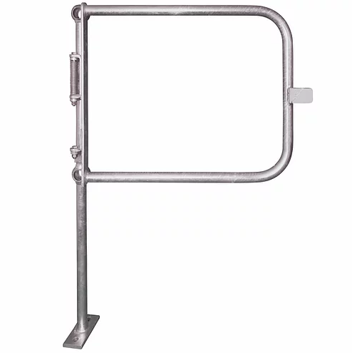 Galvanised half height self closing Sprung Gates complete with a ball standard attached