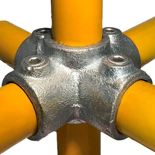 4 Way Cross (158) galvanised clamp