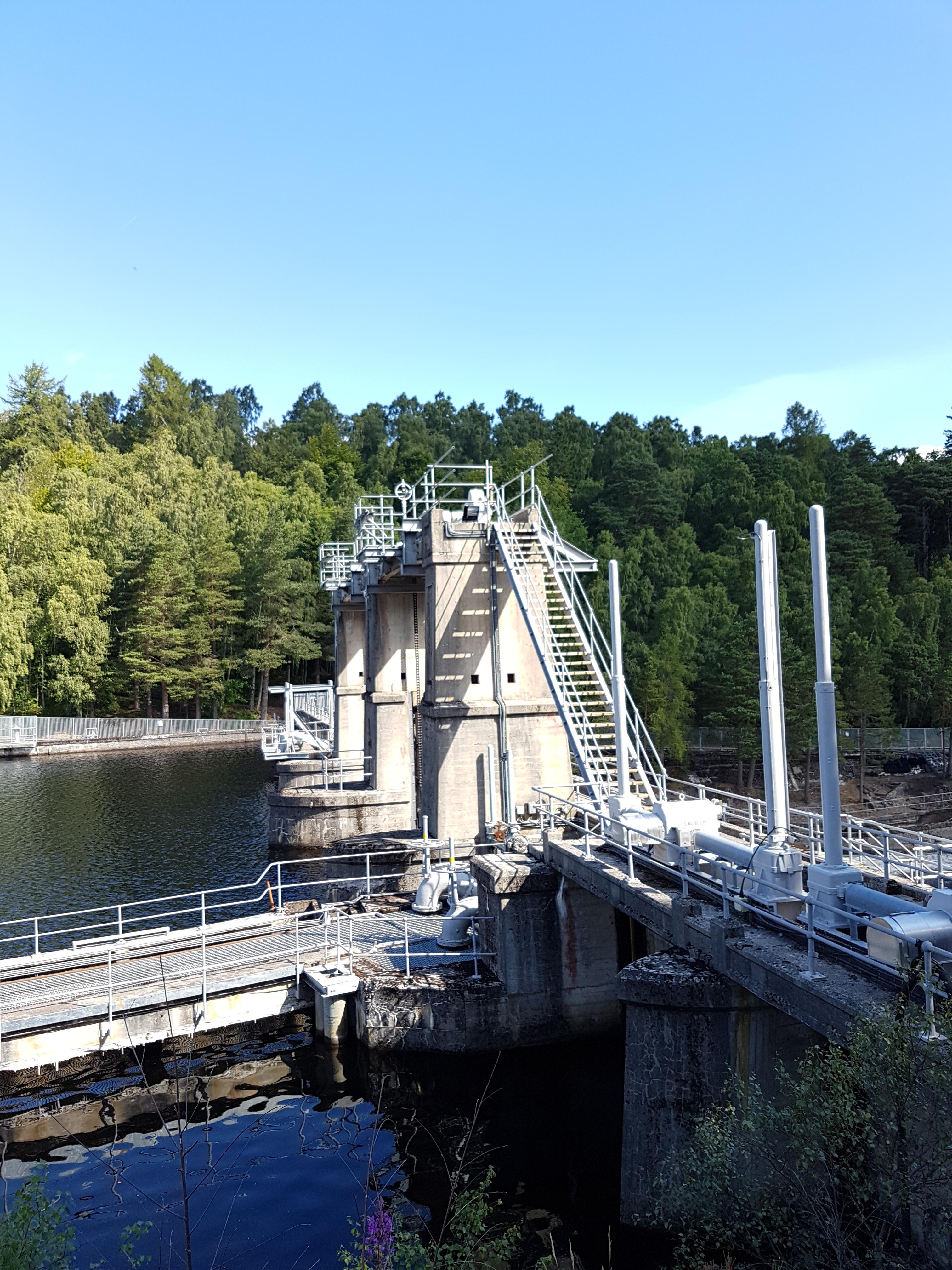 Dunallister Dam Tummel Bridge Handrail and Stairs