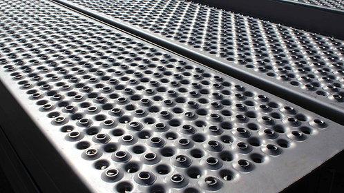 Perforated steel flooring - perforated metal planks
