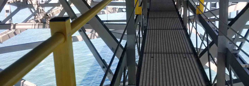 GRP moulder grated walkway by Kite Group Ltd