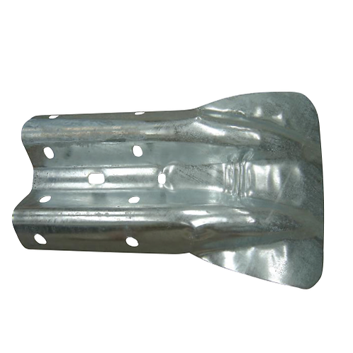 galvanised wing end terminal to cover barrier beam