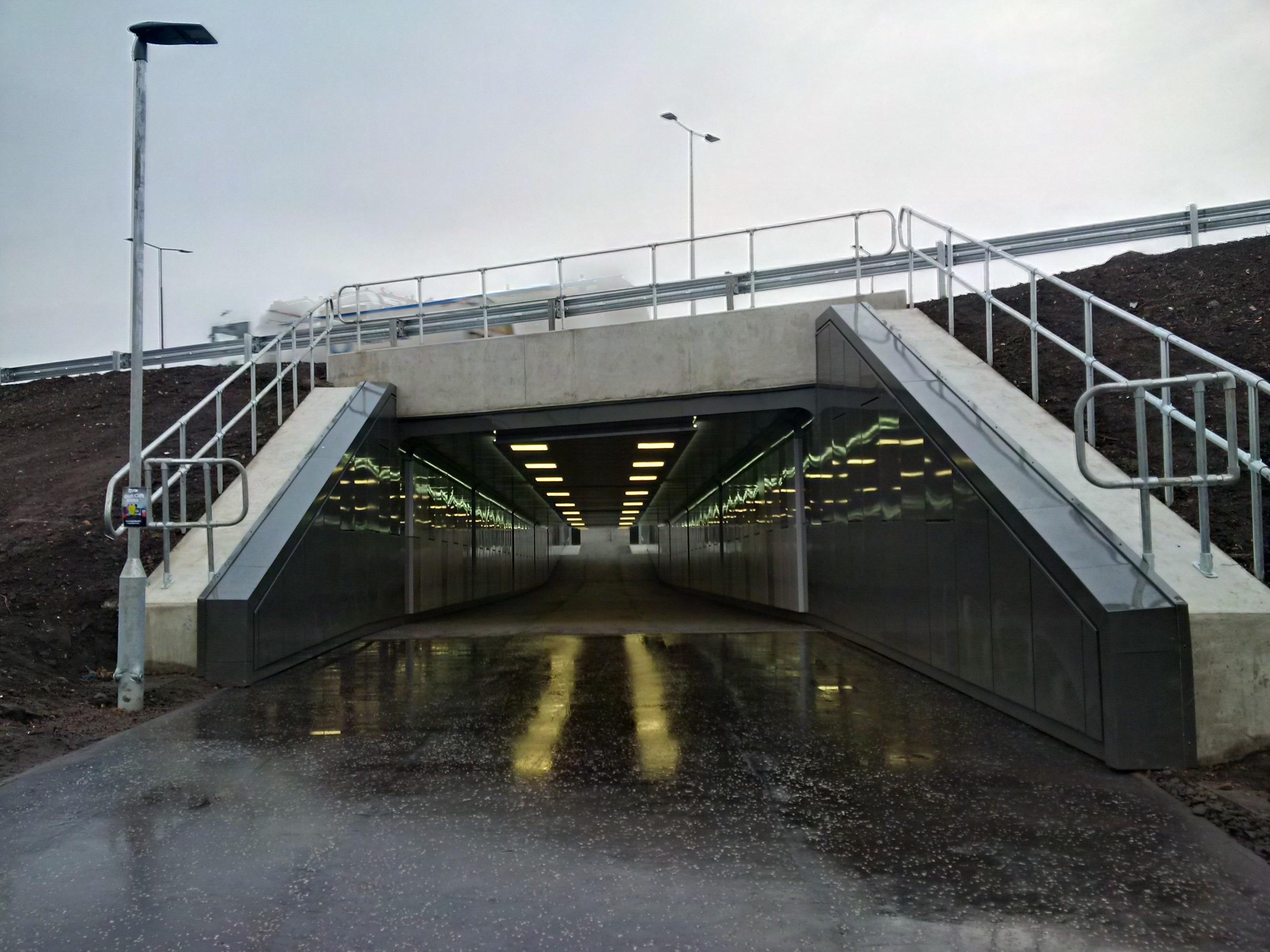 Edinburgh Trams handrails and Tube Clamps