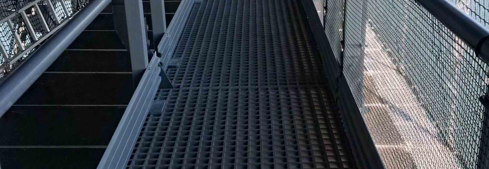 Kite GRP moulder grated walkway