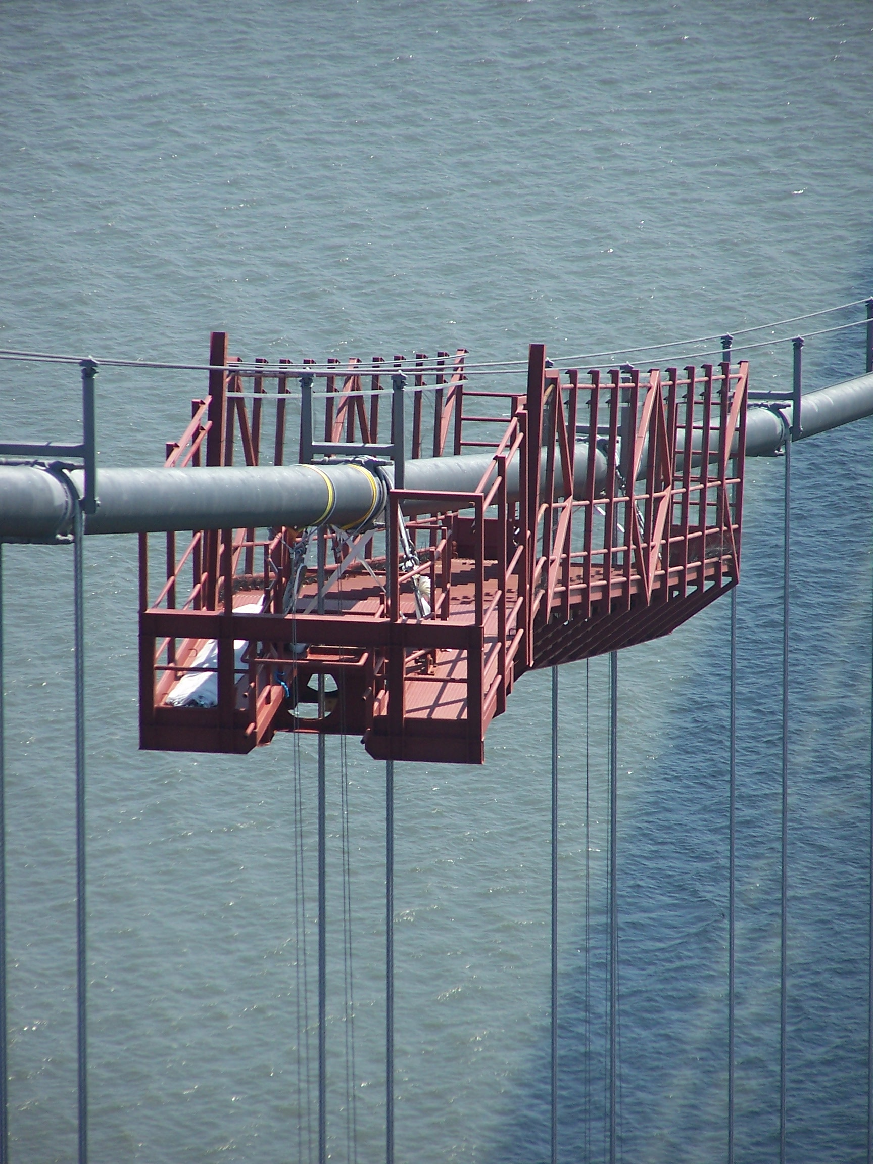 Forth Road Bridge Cable gantry walkway and handrail Edinburgh