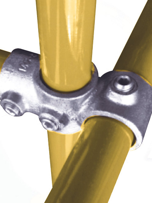 Combination Socket tube clamp connecting 3 yellow tubes