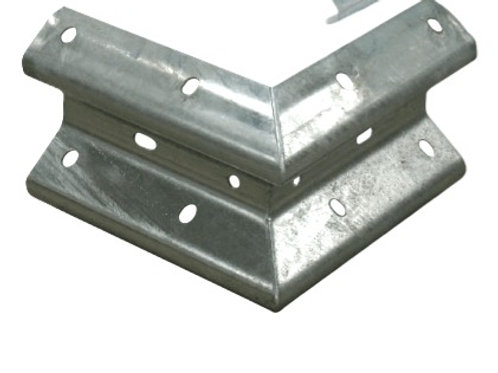 galvanised external corners or barrier beams ends