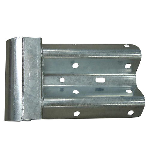 galvanised pedestrian end to cover barrier beam end