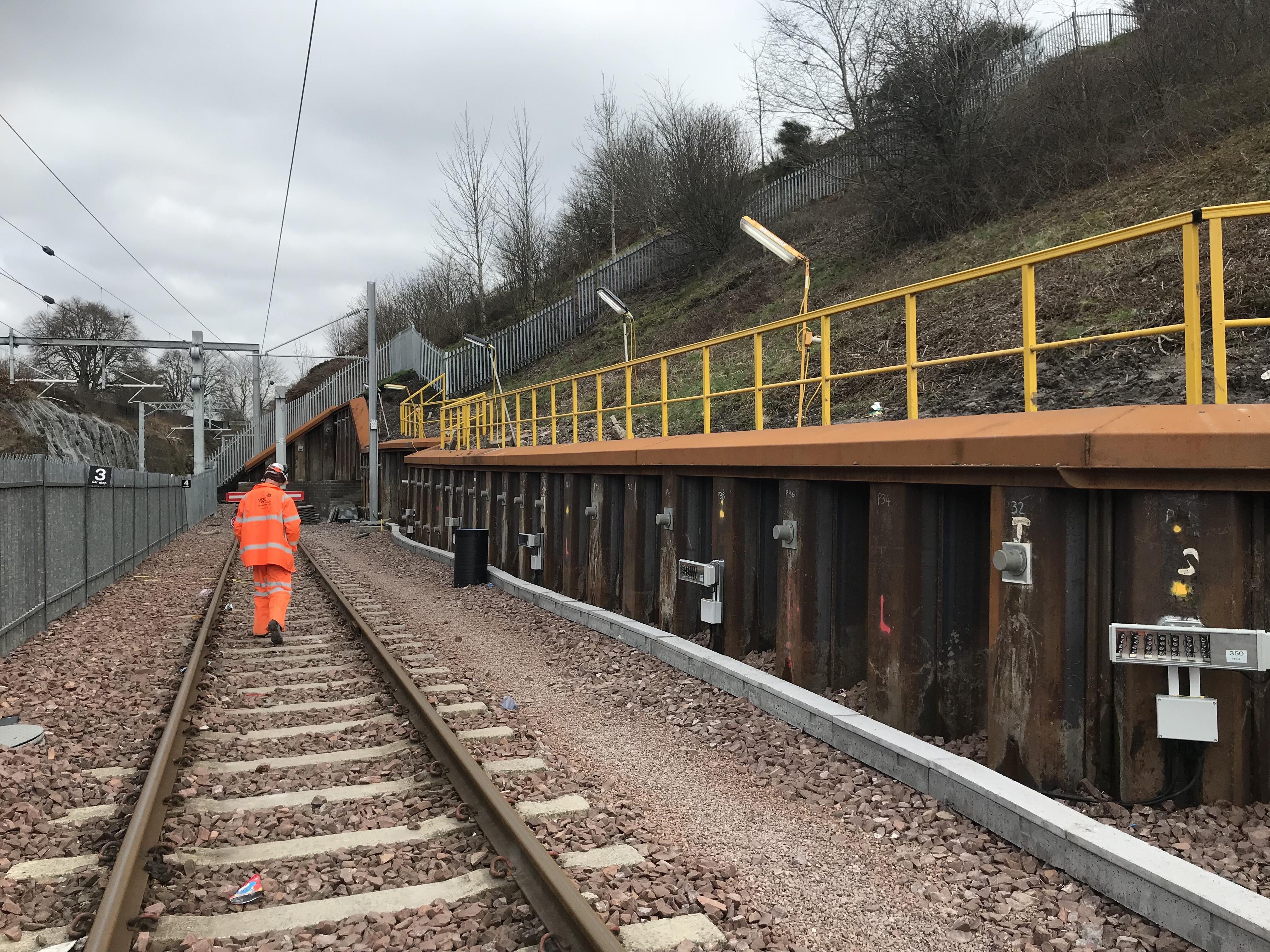 Eastfield Depot Lenchin Railway GRP handrails installed