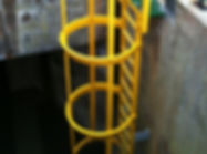 yellow safety access ladder