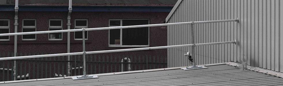 Topfix roof edge protection system galvansied kite uk