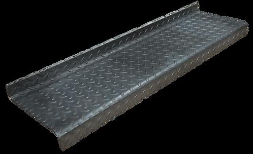 The raised leaf pattern Durbar Flooring treads self-colour
