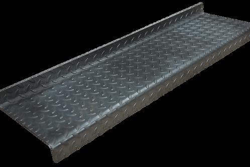 The raised leaf pattern Durbar Flooring treads