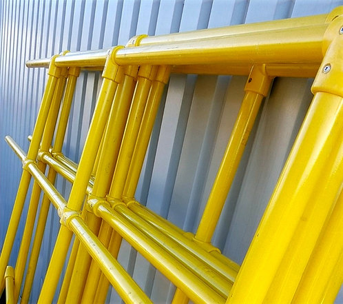 GRP Handrail yellow Tubes and GRP clamps set