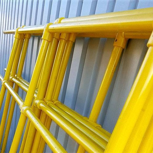 GRP Handrail yellow Tubes