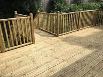Timber decking installation, free deck design