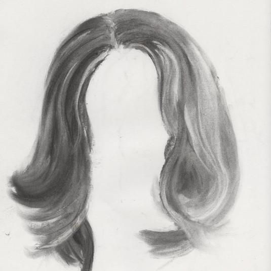 Charcoal hair study
