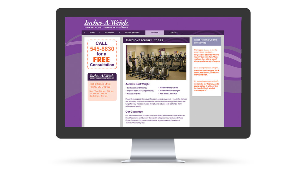 Inches-A-Weigh web design