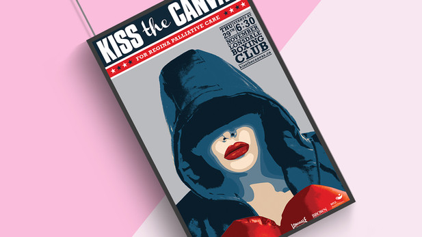 Kiss the Canvas Poster Design