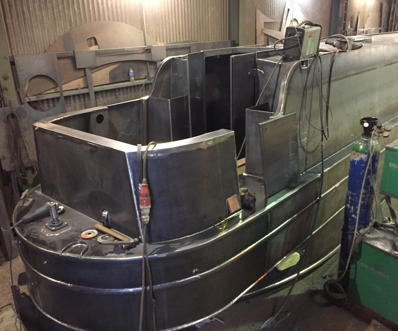 Enclosed Stern Narrowboat