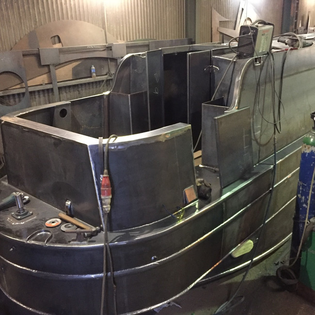 Enclosed Stern Narrowboat
