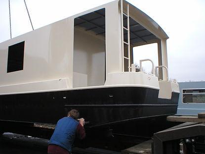 Houseboat stern