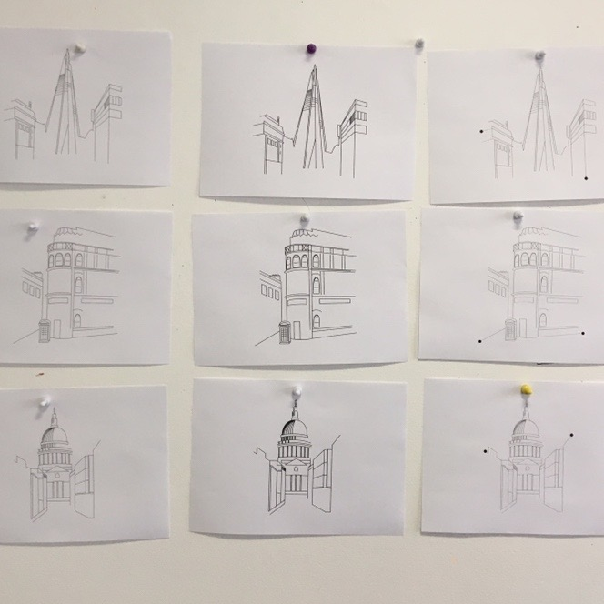 London Row Studio - The Knowledge illustration work in progress