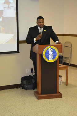 Bro. Roberson delivers the Welcome