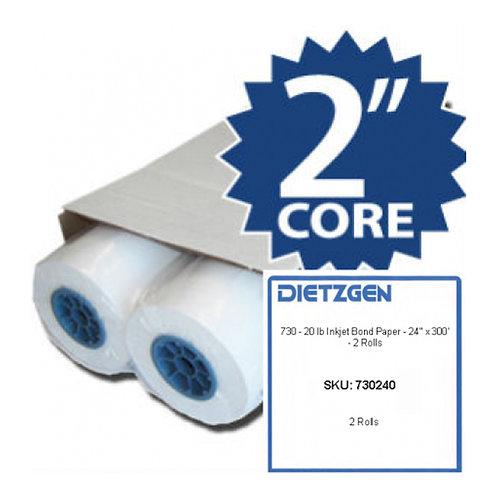 DIETZGEN 730 20-lb Inkjet Bond 300' roll (CTN/2)