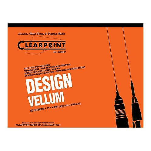CLEARPRINT 1000H Vellum pad/50 shts
