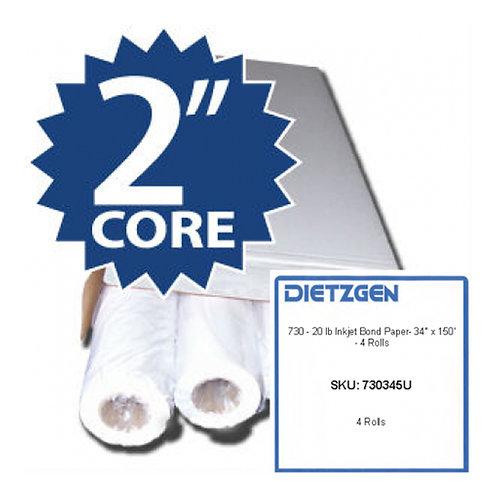 DIETZGEN 730 150' rolls 20-lb Inkjet Bond 4RL/CTN