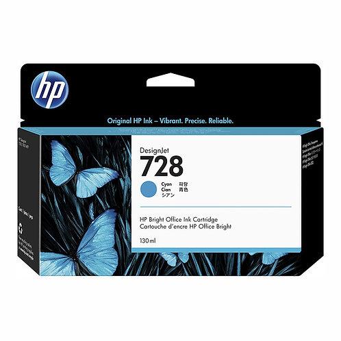 HP 728 Ink Cartridge 130-ml (colors) and 300-ml (black)