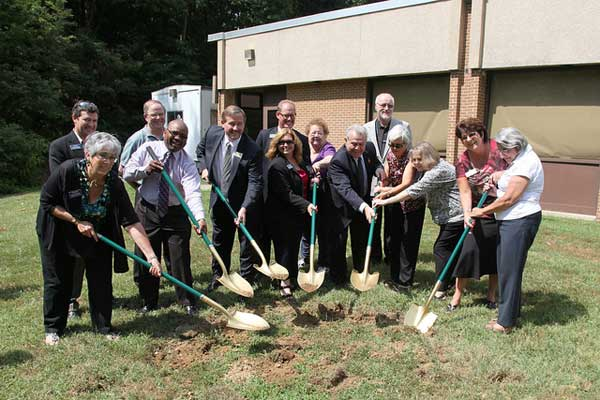Ground Breaking at Potomac Library